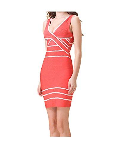 Whoinshop -  Vestito  - Donna Arancione