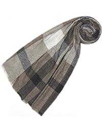 Lorenzo Cana Echarpe de 100% Laine pour l`homme – laine de yak - foulard à  carreaux, 75 cm x 180 cm - chaud et noble, exceptionnel… d18a0296c6a