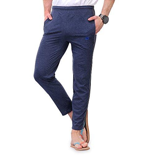 TSX Men's Cotton Trackpant TSX-PYJAMA-STR-BLUEMILANGE-BLACK-S  available at amazon for Rs.249