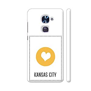 Colorpur I Love Kansas City Printed Back Case Cover for LeEco Le 2