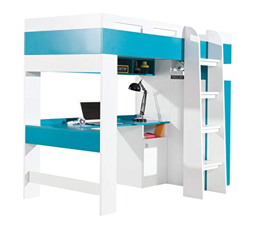Funktionsbett/Kinderbett/Hochbett mit Bettkasten und Schreibtisch