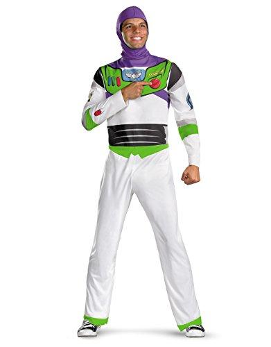 Buzz Lightyear Classic Herren Kostüm Toy Story Set, XL, Brustumfang 42- 116.84 cm, Taille 38-41 106.68 cm; Innennaht 81.28 cm, Höhe 5'22.86 cm - 5'27.94 (Herren Buzz Lightyear Kostüm)