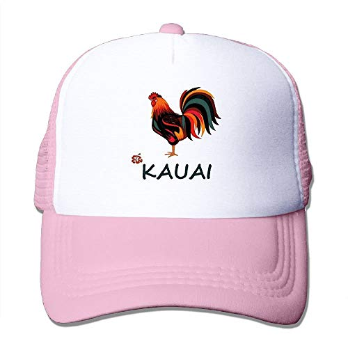 KKAIYA Kauai Wild Rooster Trucker Hat Unisex Adult Baseball Mesh Cap Black