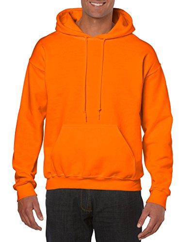 Gildan G18500 Herren Kapuzen-Sweatshirt, schweres Mischgewebe - Orange - Mittel Over / Under Hoody Sweatshirt