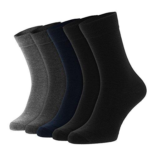 Jack & Jones 5-er Set Socken Schwarz, Grau und Blau : 41-46 Größe 41-46