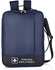 Swiss Military 14 Ltrs Blue & Black Laptop Backpack (LB7)
