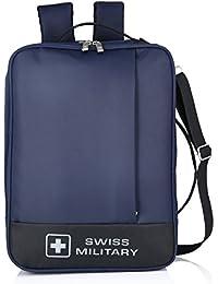Swiss Military 14 Ltrs Blue & Black Laptop Backpack (LB7)