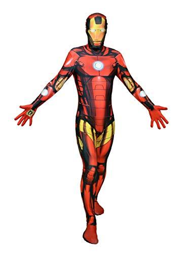Marvel Iron Man Digital Morphsuit Lizenz Ware Oro Rosso Nero