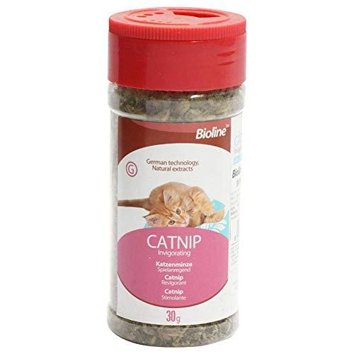 JSMeet Tea Catnip, Foglie essiccate di Catnip secca - La Ricca vitamina C Aumenta l'appetito, Regola l'umore - l'ossequio Organico per Gatti - 30g