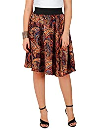 BROWN PAISLEY PRINT SKIRT