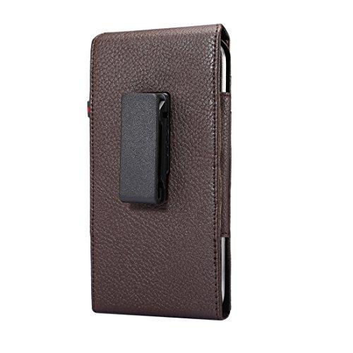 HUAWEI Case Cover Universal Litchi Texture Vertical Flip aufrecht PU-Leder Tasche / Taille Tasche mit Back Splint & Card Slots & 15cm Lanyard für Samsung Galaxy Mega 6,3 & C9 Pro / C900 & A8 (2016) &  Coffee