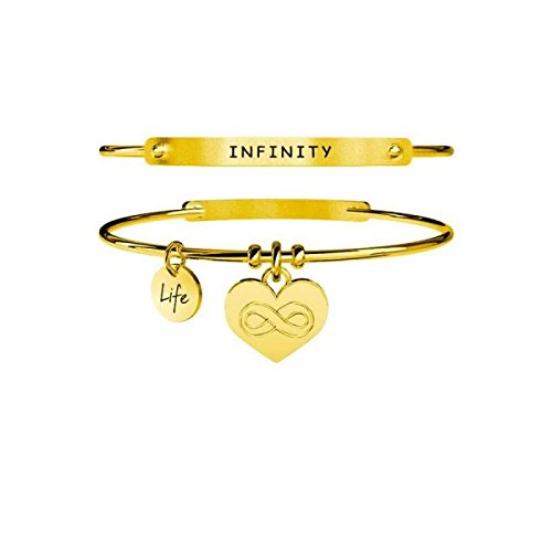KIDULT LIFE Collection Bracciale in acciaio pvd gold CUORE INFINITO 231651