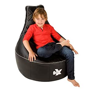 i ex rookie gaming chair faux leather kids gaming bean bag great for a gamer steel black. Black Bedroom Furniture Sets. Home Design Ideas