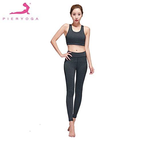 Set-da-yoga-per-donna-Reggiseno-sportivo-Pantaloni-lunghi-Fitness-Canotta-Reggiseno-push-up-Traspirante