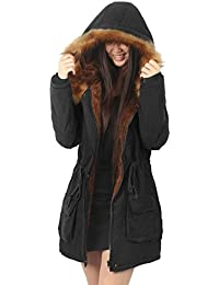 iLoveSIA Womens Warm Winter Parkas Coats Faux Fur Lined Overcoats