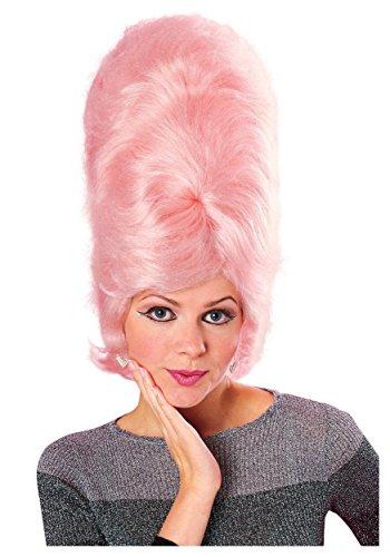 Bee Hive Perücke pink Queen, Erwachsenen-Kostüm–One Size (Rosa Bienenstock Perücke)