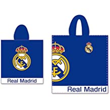 Real Madrid C.F. Poncho de Playa Escudo Azul 60 x 60