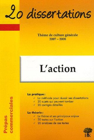 L'action : Thème de culture générale 2007-2008