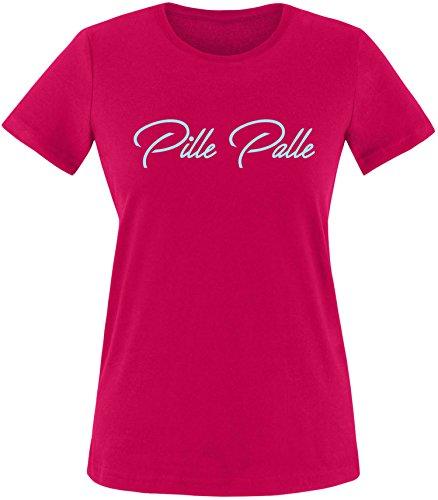 EZYshirt® Pille Palle Damen Rundhals T-Shirt Sorbet/Hellblau