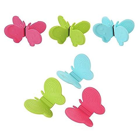 Pinzhi Falsch Kieselgel-Schmetterling die Datei Scheibe schützt die Hand nehmen Küche Mikrowelle zu (Schmetterling Dish)