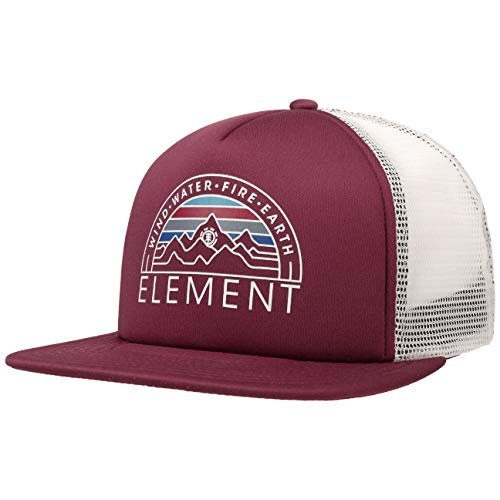 Element Gorra Trucker Viento Water Fire Earth de Malla Camionero (Talla única - Burdeos)