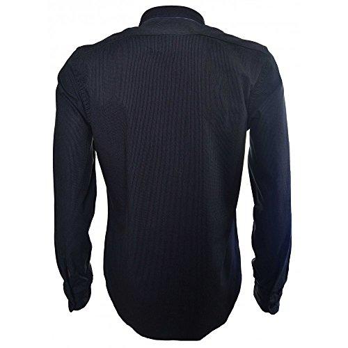 Replay Men's Navy Blue Slim Fit Long Sleeve Shirt Blue