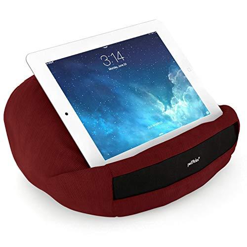 padRelax® Casual Bordeaux I Halterung für e-Reader und Tablets bis 10.5 Zoll, Made in Germany, für Bett, Sofa, Tisch, kompatibel mit Apple iPad, kompatibel mit Samsung Galaxy