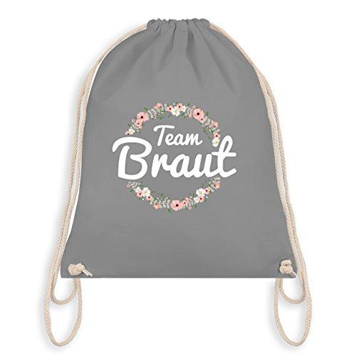 Shirtracer JGA Junggesellinnenabschied - Team Braut Blumenkranz - Unisize - Hellgrau - WM110 - Turnbeutel & Gym Bag