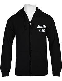 WWE Stone Cold Steve Austin Smoking Skull Adult Zip Hoodie