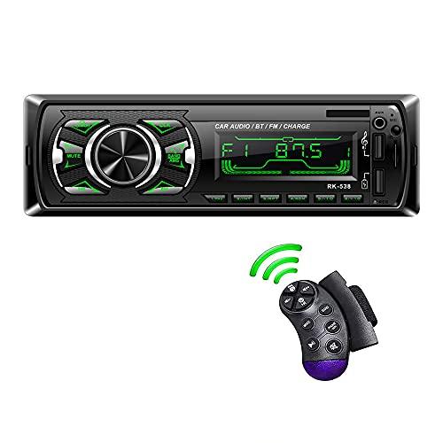 Oferta de LSLYA Coche Stereo Retroiluminación de 7 colores Llamadas manos libres Bluetooth Radio FM Reproductor de MP3 compatible con control remoto del volante / carga rápida / disco U / AUX / USB