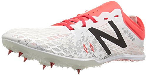 New Balance, Damen Leichtathletikschuhe, Weiß (White/orange), 37.5 EU (5 UK)