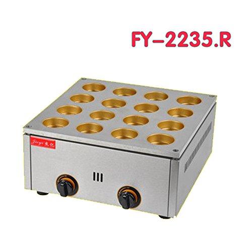 fy-2235a.r Gas TYPE16Loch rot Kuchen rrill Schicht Kuchen, Maschine rot Sitzsack Cake Waffel...
