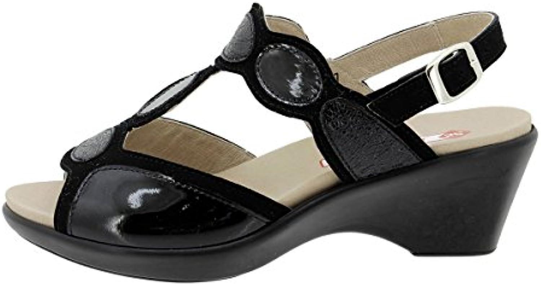 Sandalia Plantilla Extraíble Ante Visón 180863 PieSanto Zapato Confort