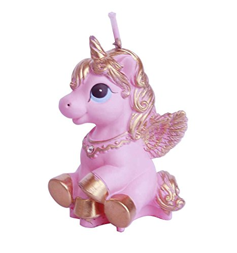 e-meoly Creative Cartoon Pegasus caballo volador cumpleaños velas Unicorn encantador regalos fiesta velas velas sin humo para fiestas Favor de recuerdo de suministros y boda Favor