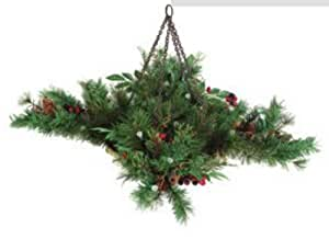 Christmas Hanging Basket With Lights For Indoor Or