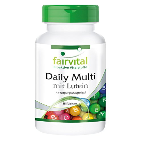 Daily Multi mit Lutein - HOCHDOSIERT - 365 Tabletten - Multivitamin und Multimineral