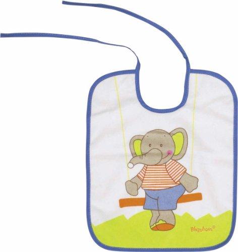 Imagen 1 de Playshoes 507195-607 - Babero, diseño de elefante, 28 x 24 cm, color azul
