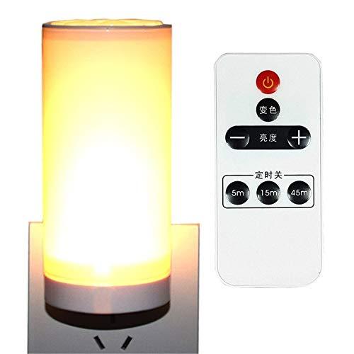 Aussenlampe Wandbeleuchtung Wandlampe Wandleuchte Innen Drahtlose Fernbedienung Led Nachtlicht Mit Schalter Steckdose Typ Super Hell Dimmbar -