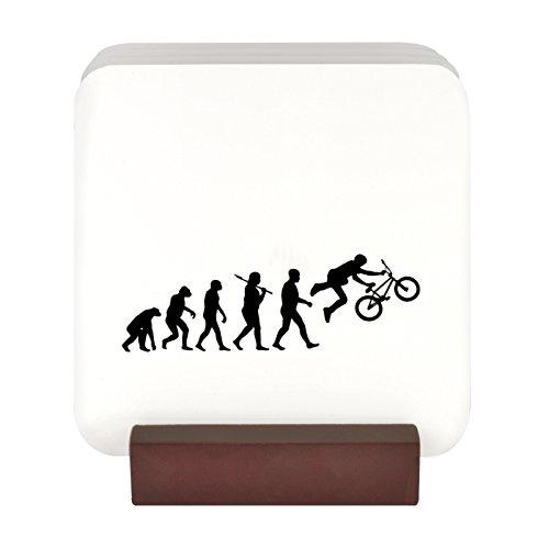 4 Untersetzer mit Motiv Evolution eines BMX Etui Sleeve Cover mit Aufsteller (Bmx Bikes Games)