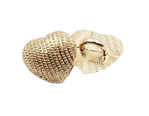 Set von 10 10 mm Frau / Mädchen Shirts / Sweater Buttons Goldene (Mädchen Benutzerdefinierte Shirts)