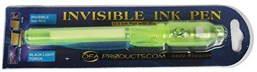 Spaß Spy Spielzeug für Kinder - Geheime Botschaft Stift mit unsichtbare tinte & UV-Licht - Bank Note Wasserzeichen Überprüfen Stift (TM OFA Products) - Grün