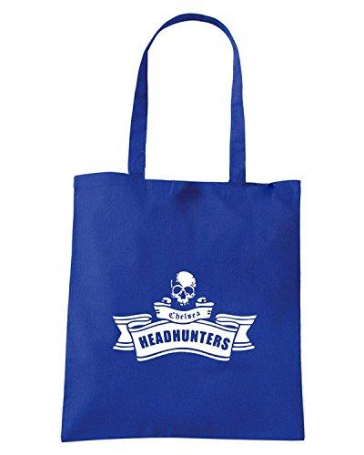 T-Shirtshock - Borsa Shopping TUM0020 ultras chelsea headhunters Blu Royal