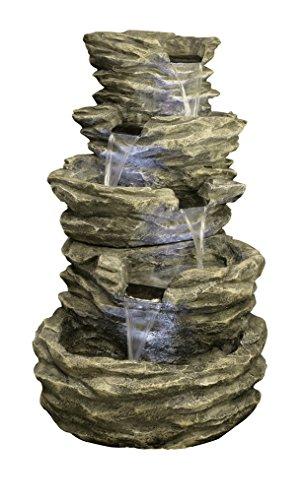 Fuente de Cascada de 4 Gradas con luces