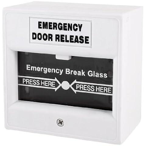 Sourcingmap a13111900ux1756 - Allarme di sicurezza pulsante di vetro tagliafuoco