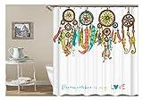 Epinki Polyester Bad Vorhang Traumfänger Muster Badewanne Vorhang Bunt für Badewanne 180x180CM