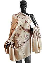 DollsofIndia Paisley Design Print on Light Woolen Shawl - 40 x 84 inches (NO91)