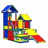 move and stic Indoor & Outdoor Klettergrüst Luise für Kleinkinder ab 12 Monate als Möbel und Motorikschule im Kinderzimmer einsetzbar (4 farbig /blau, grün, gelb, rot)