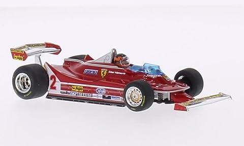 Ferrari 312 T5, No.2, Scuderia Ferrari, Michelin, Formel 1, GP Brasilien, 1980, Modellauto, Fertigmodell, Brumm 1:43