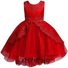 Vestito Fiore per Ragazze Vintage Pizzo Damigella d Onore Nozze Abiti in  Tulle Festa Maxi 2bc6cd62af8