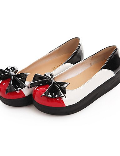 ZQ Scarpe Donna - Mocassini - Matrimonio / Tempo libero / Formale / Casual - Comoda / Punta arrotondata - Plateau - Finta pelle -Nero / , red-us8 / eu39 / uk6 / cn39 , red-us8 / eu39 / uk6 / cn39 red-us7.5 / eu38 / uk5.5 / cn38